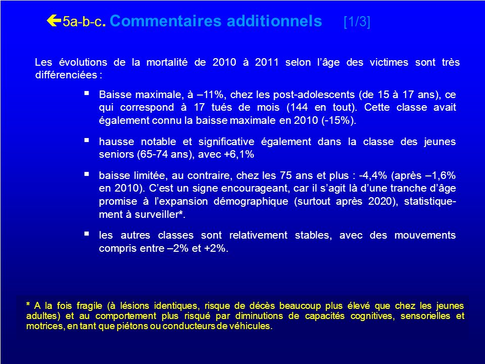 5a-b-c. Commentaires additionnels [1/3]